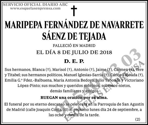 Maripepa Fernández de Navarrete Sáenz de Tejada